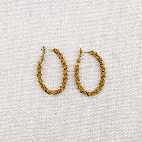 Spikey Oval Hoop Earrings