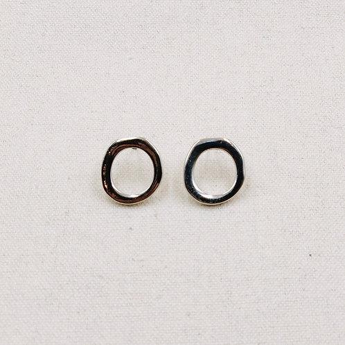 Irregular Round Hollow Stud Earrings