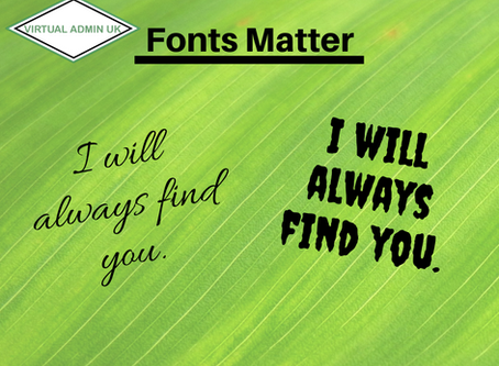WHY FONT MATTERS