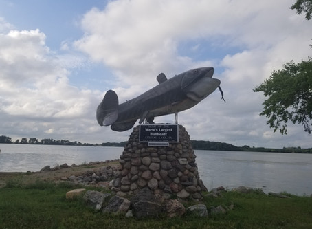 Crystal Lake in Hancock County is 'Home of the World's Largest Bullhead'