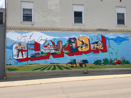 Featuring elements of the community, Clarion's sharp new mural will turn heads