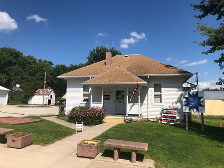 A one-room schoolhouse in Moorhead provides warm hospitality to Loess Hills Scenic Byway travelers