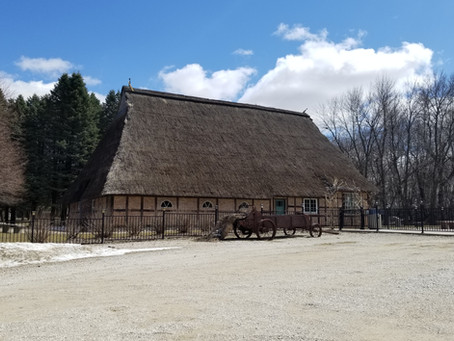 Authentic 17th Century German Hausbarn anchors the impressive Manning Heritage Park