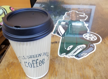 The Little Green Truck in Auburn is fueled by freshly roasted coffee