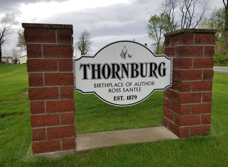 Thornburg in Keokuk County is the birthplace of author and artist Ross Santee