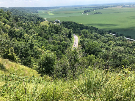 Murray Hill Scenic Overlook in Harrison County offers breathtaking Loess Hills views
