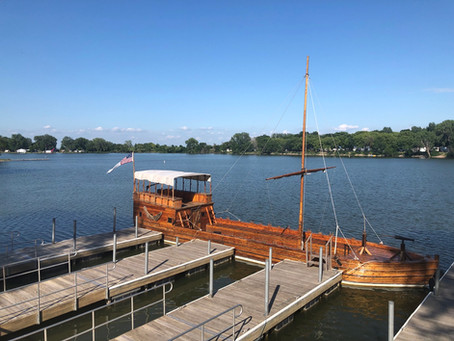 Explore a full-size 'Corps of Discovery' replica keelboat at Lewis and Clark State Park near Onawa