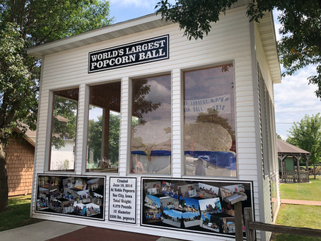'Pop' off of Highway 20 and visit Sac City to see the 'World's Largest Popcorn Ball'