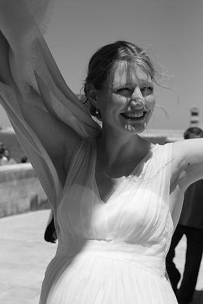Hochzeitsfotografie, Portrait in Schwarzweiss,