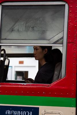 Bangkok Streetfotografie, Potrait einer Person