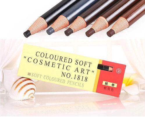 COSMETIC COLORED SOFT PENCILS FOR BROW MAPPING 12pc