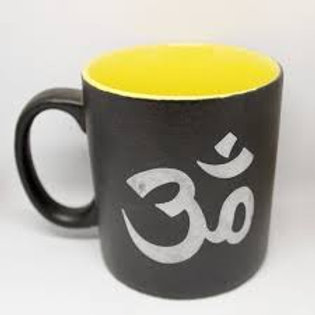 Ceramic Coffee Mug Black - Om