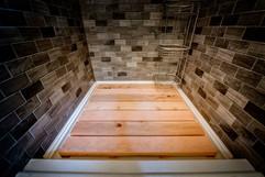 Cedar floor shower overlay