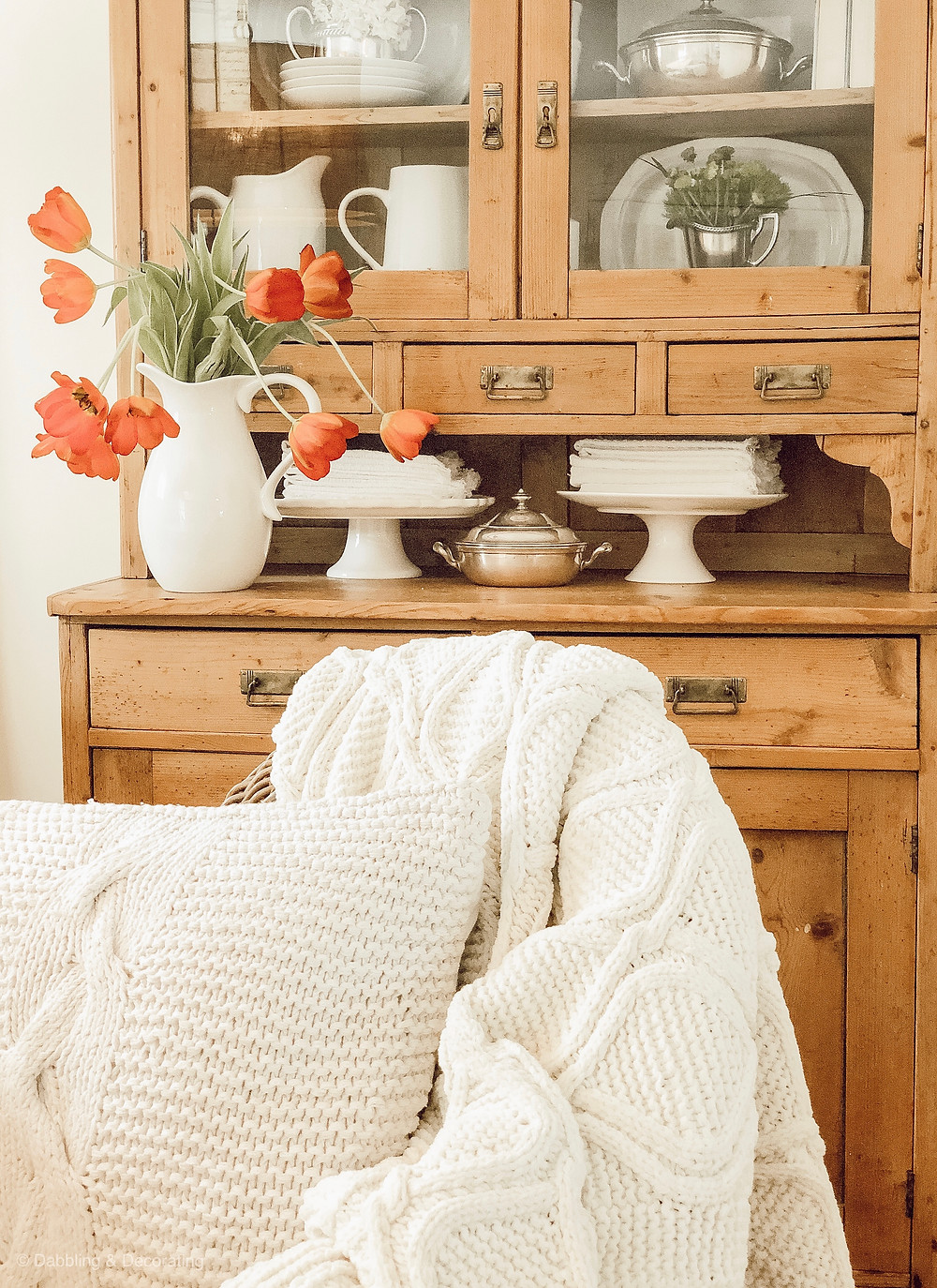 Vintage Hutch Farmhouse Style