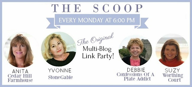 The Scoop Link Up Party Feature Button