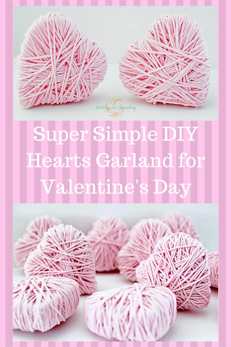 DIY Heart Garland for Valentines Day.