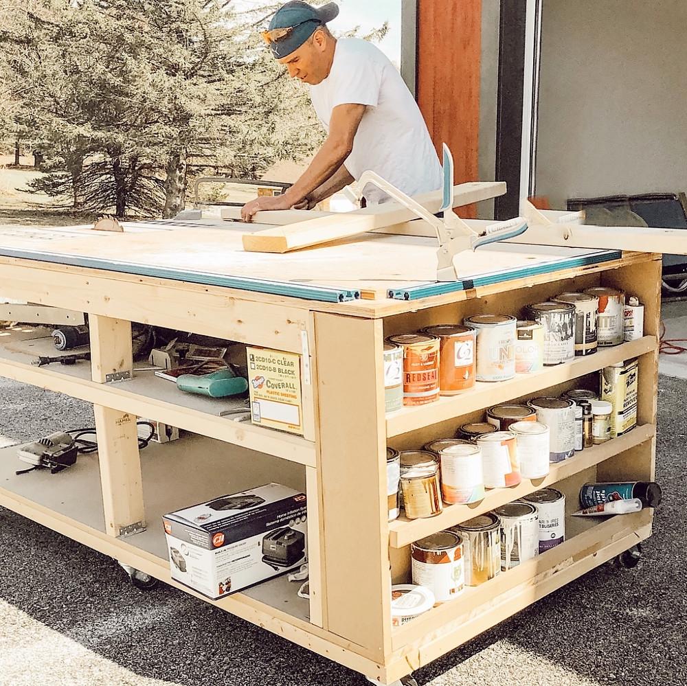 DIY Mobile home workbench