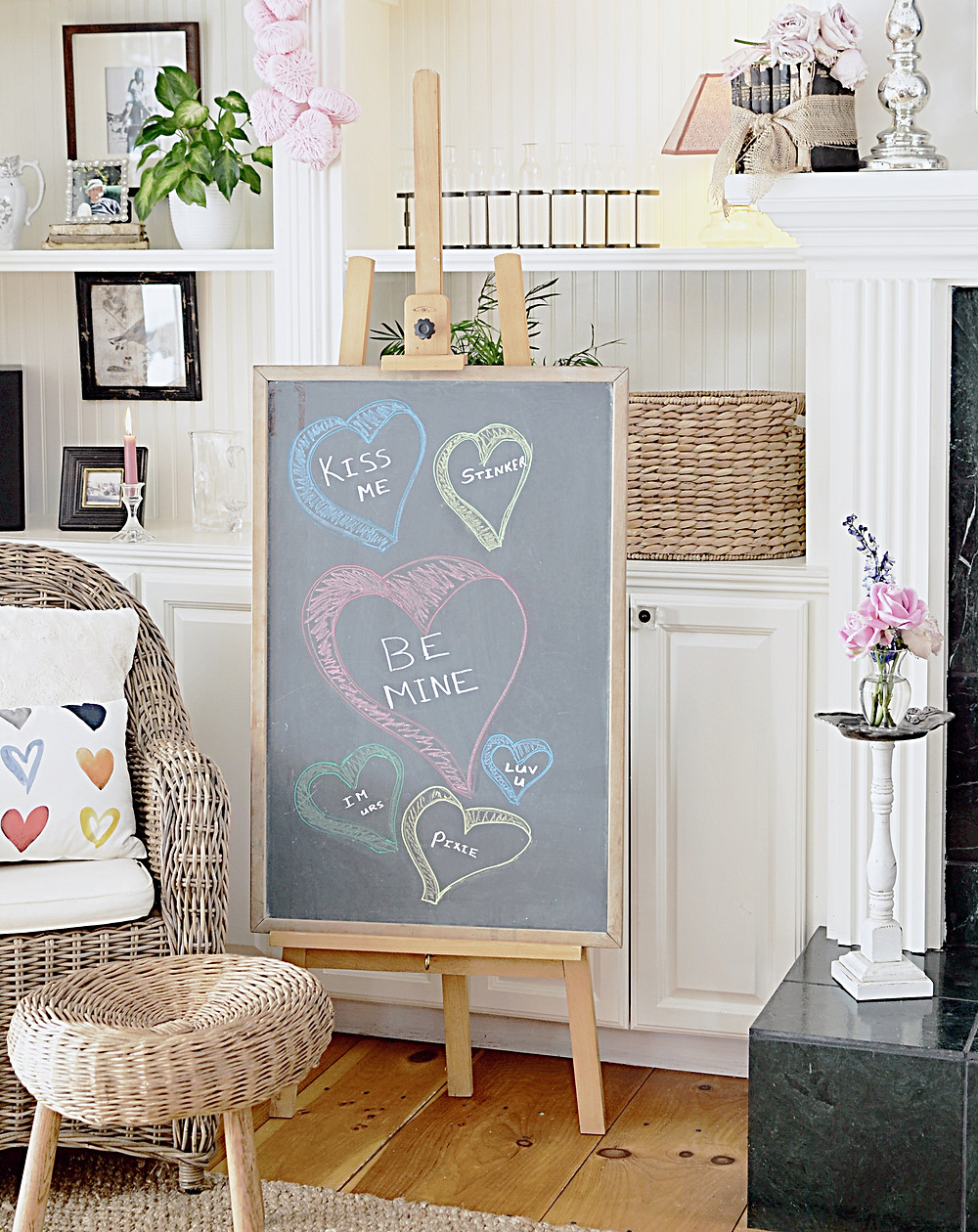 Vintage Home Decor for Valentine's Day