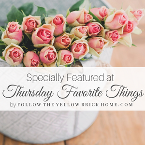 Thursday Favorite Things Link Party Feature Button