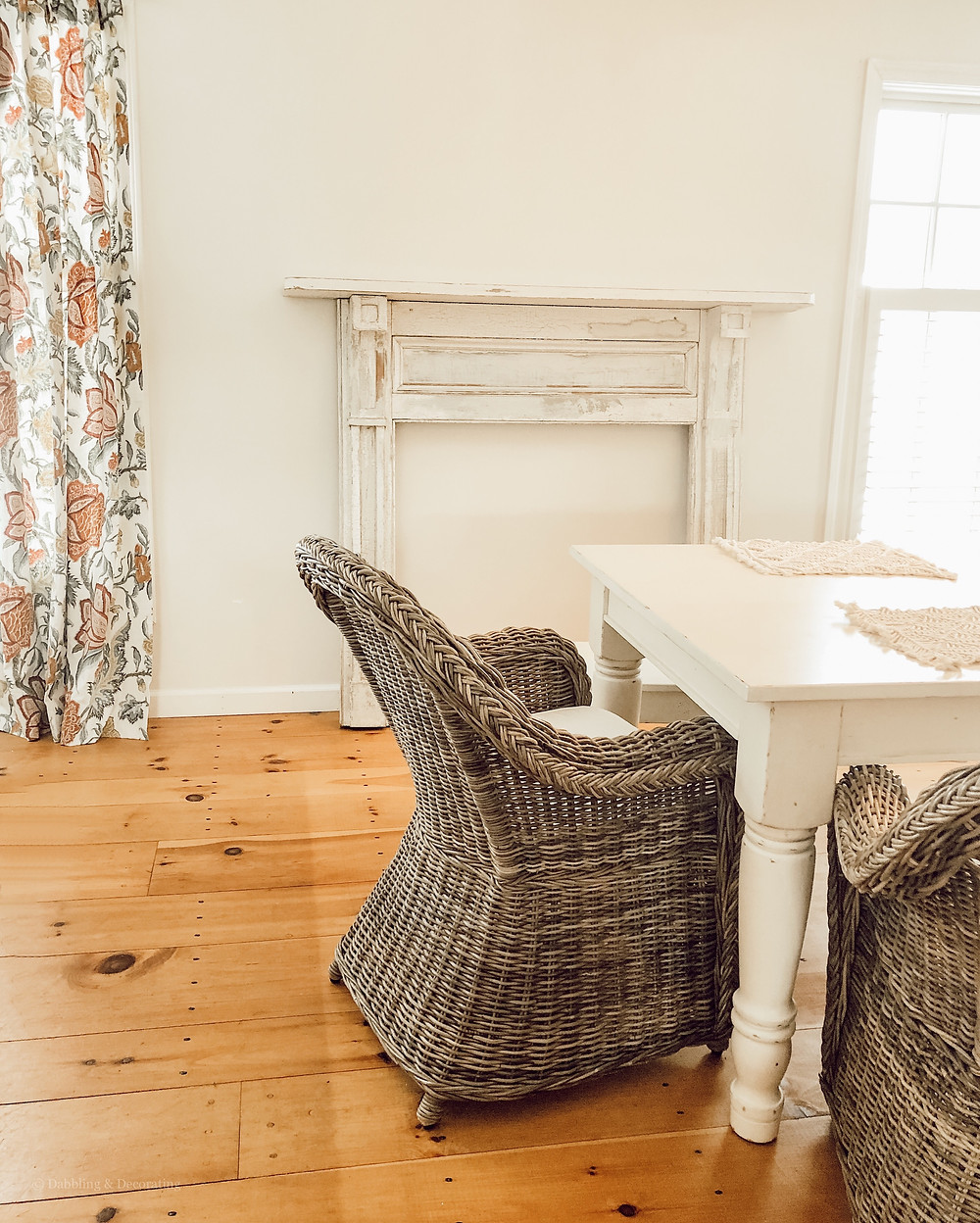 Faux Vintage Mantel in the Dining Room