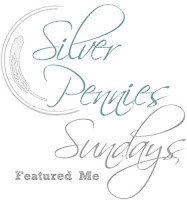 Silver Pennies Sundays Link Party Feature Button