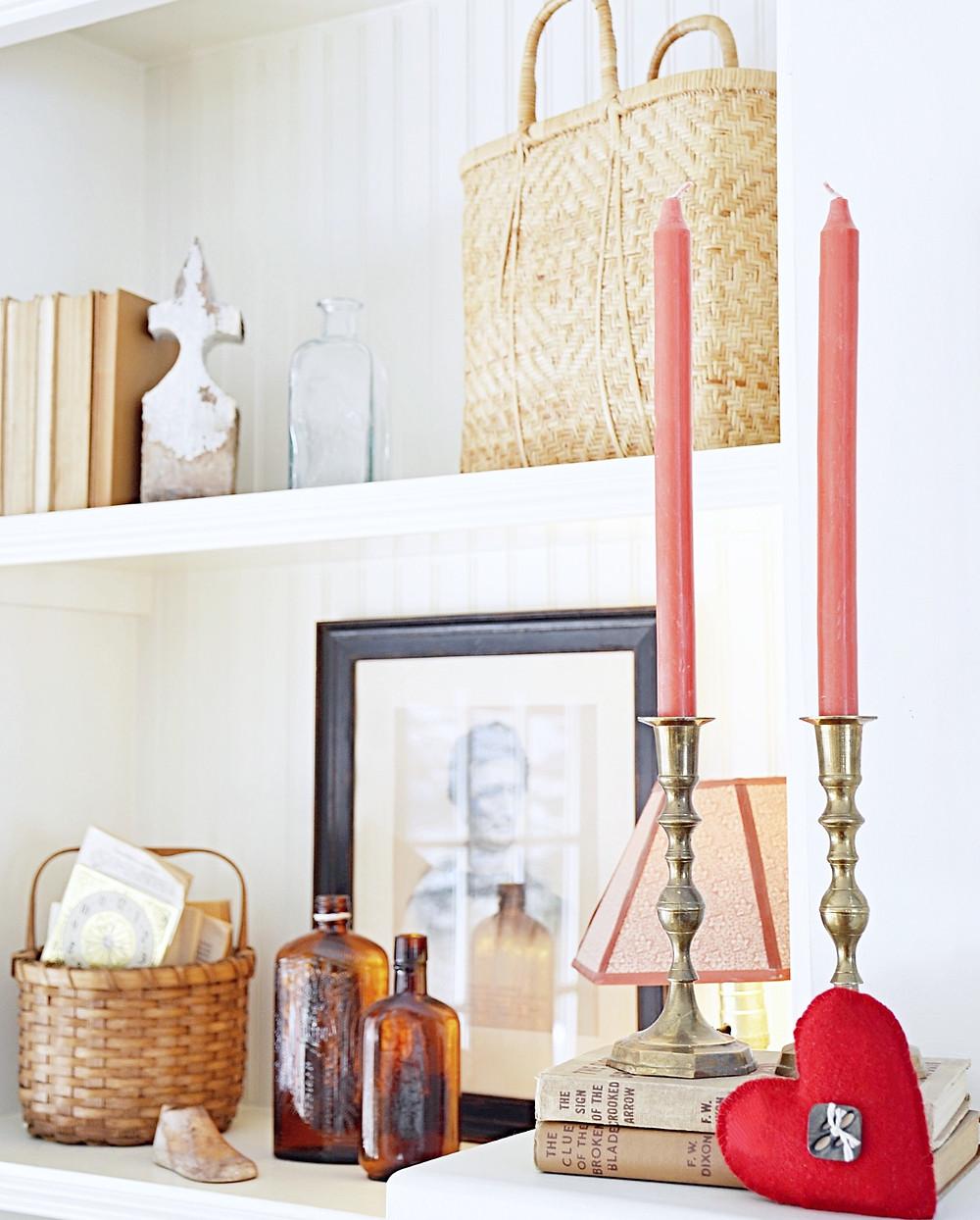 Bookshelves Valentines Day Home Decorating Ideas