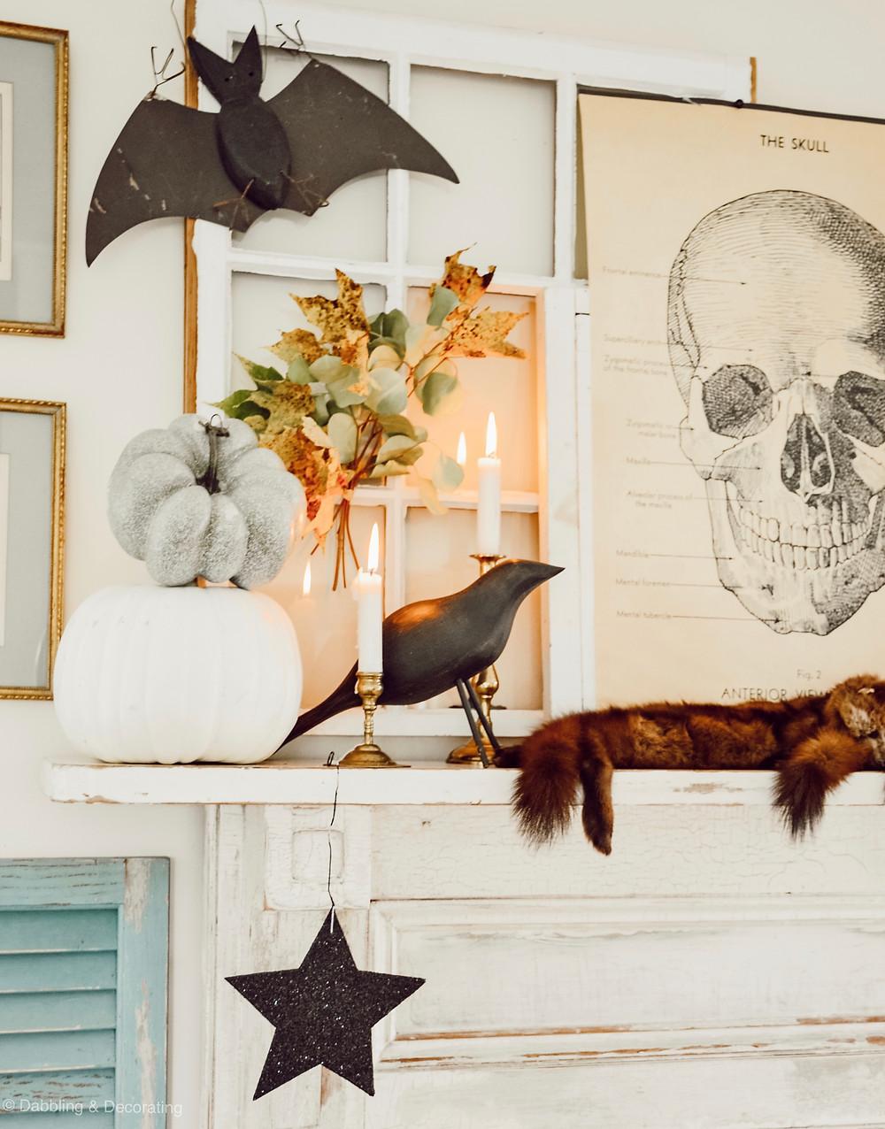 Vintage Halloween Mantel