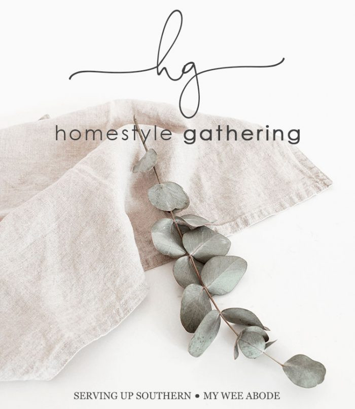 Homestyle Gathering Linky Party Feature Button