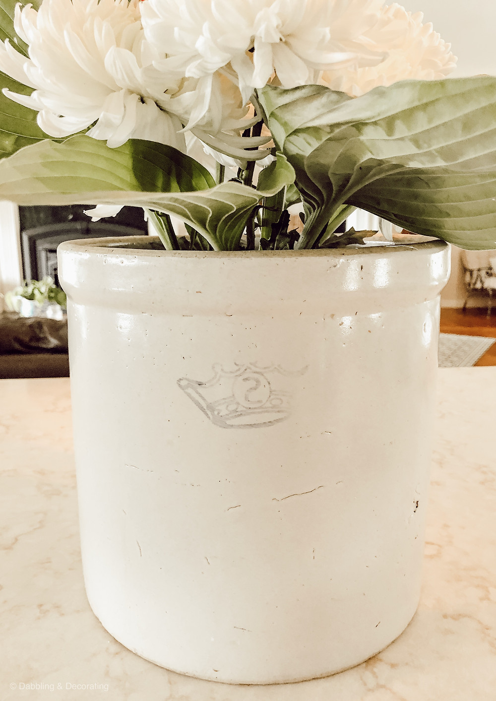 Antique Crock Flower Display