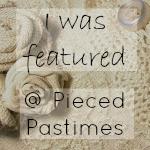 Pieced Pastime Feature Link Up Party Button.
