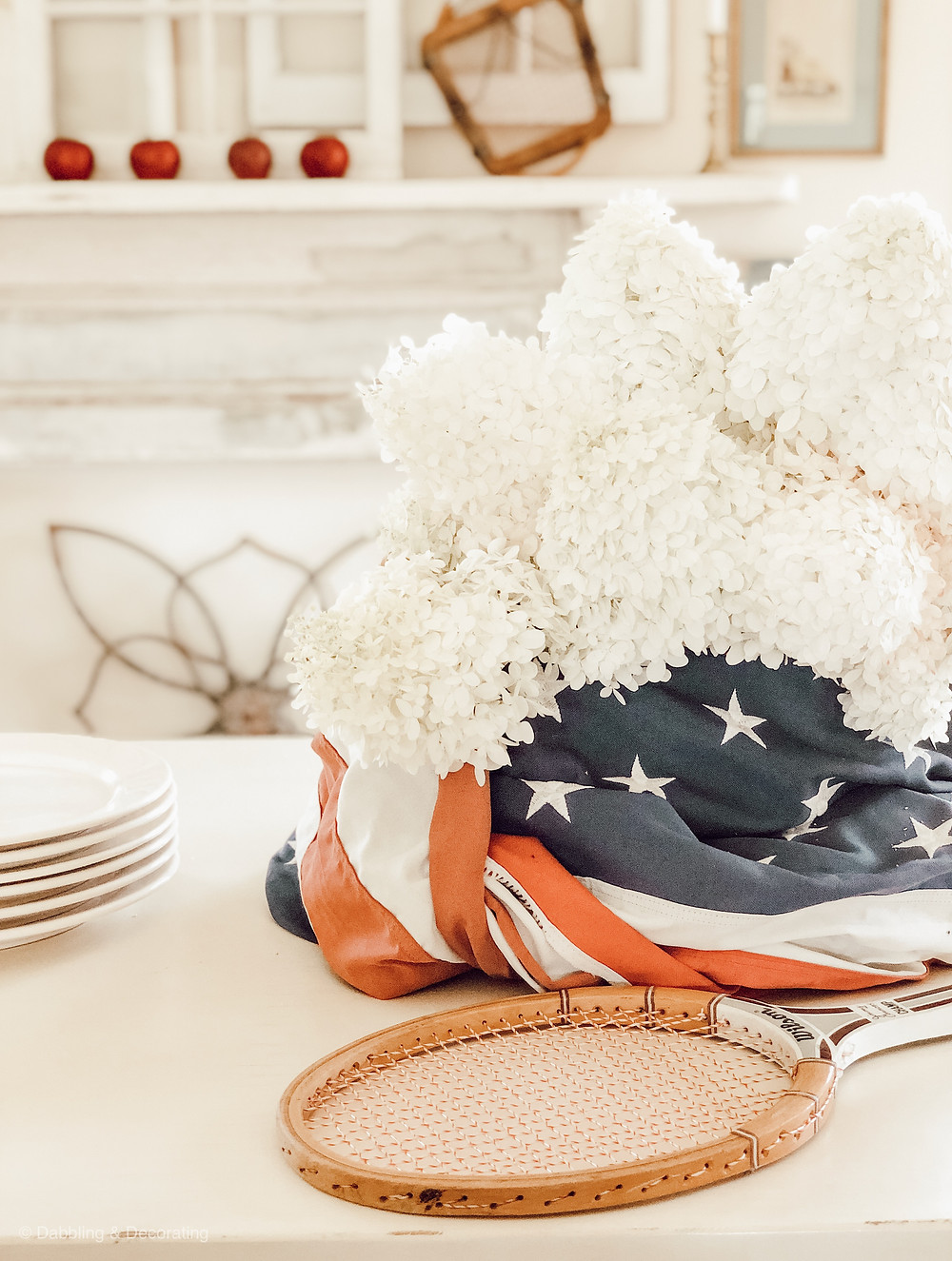 Patriotic Labor Day Table Centerpiece