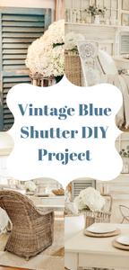 Vintage Blue DIY Shutter Project