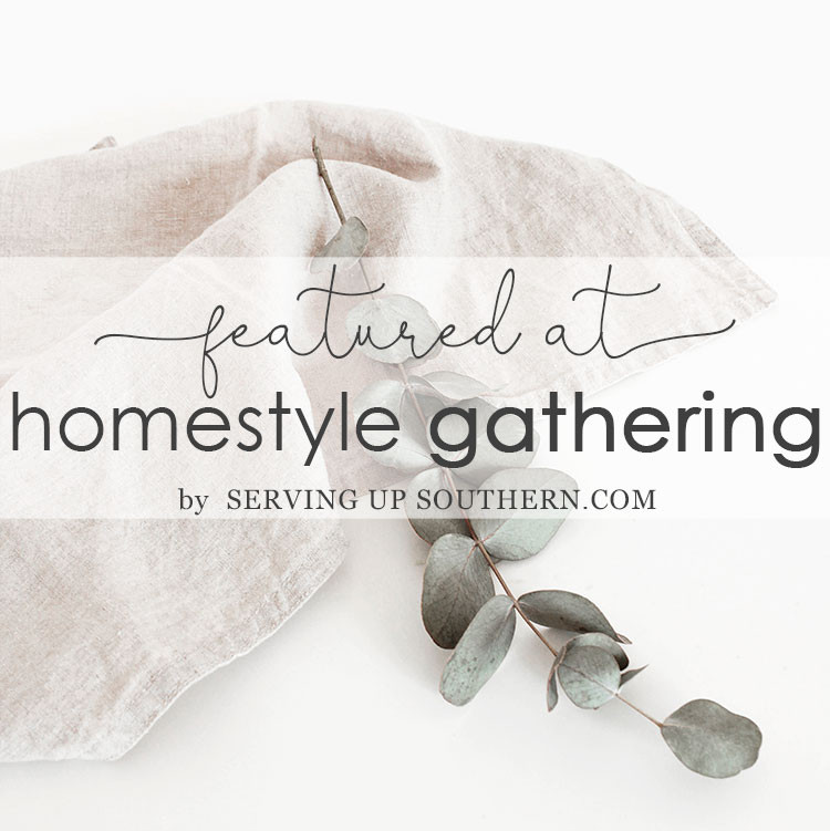 Homestyle Gathering Link Party Feature Button