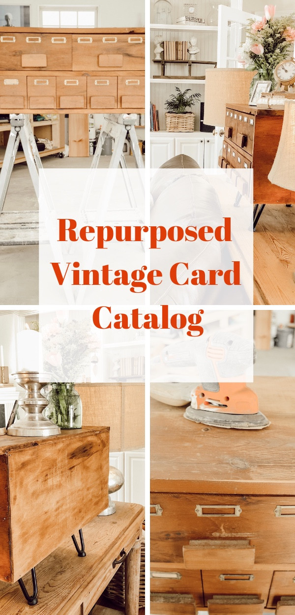 Vintage Repurposed Card Catalog
