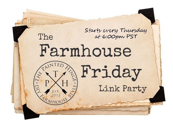 The Farmhouse Friday Link Party Feature Button