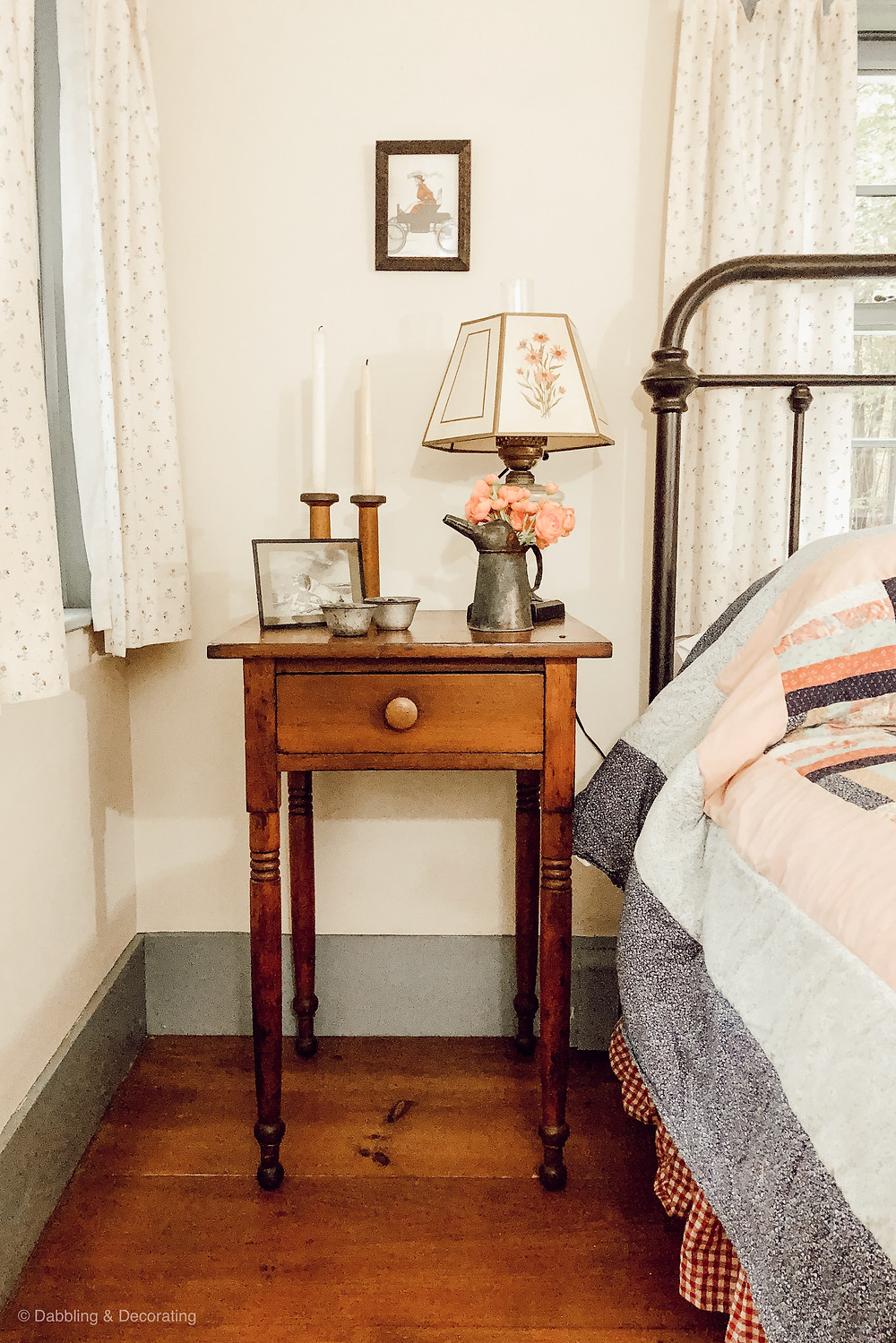 Guest Bedroom Ideas Created with Antique Family Keepsakes