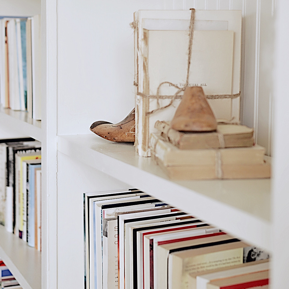 Shelfie with books.