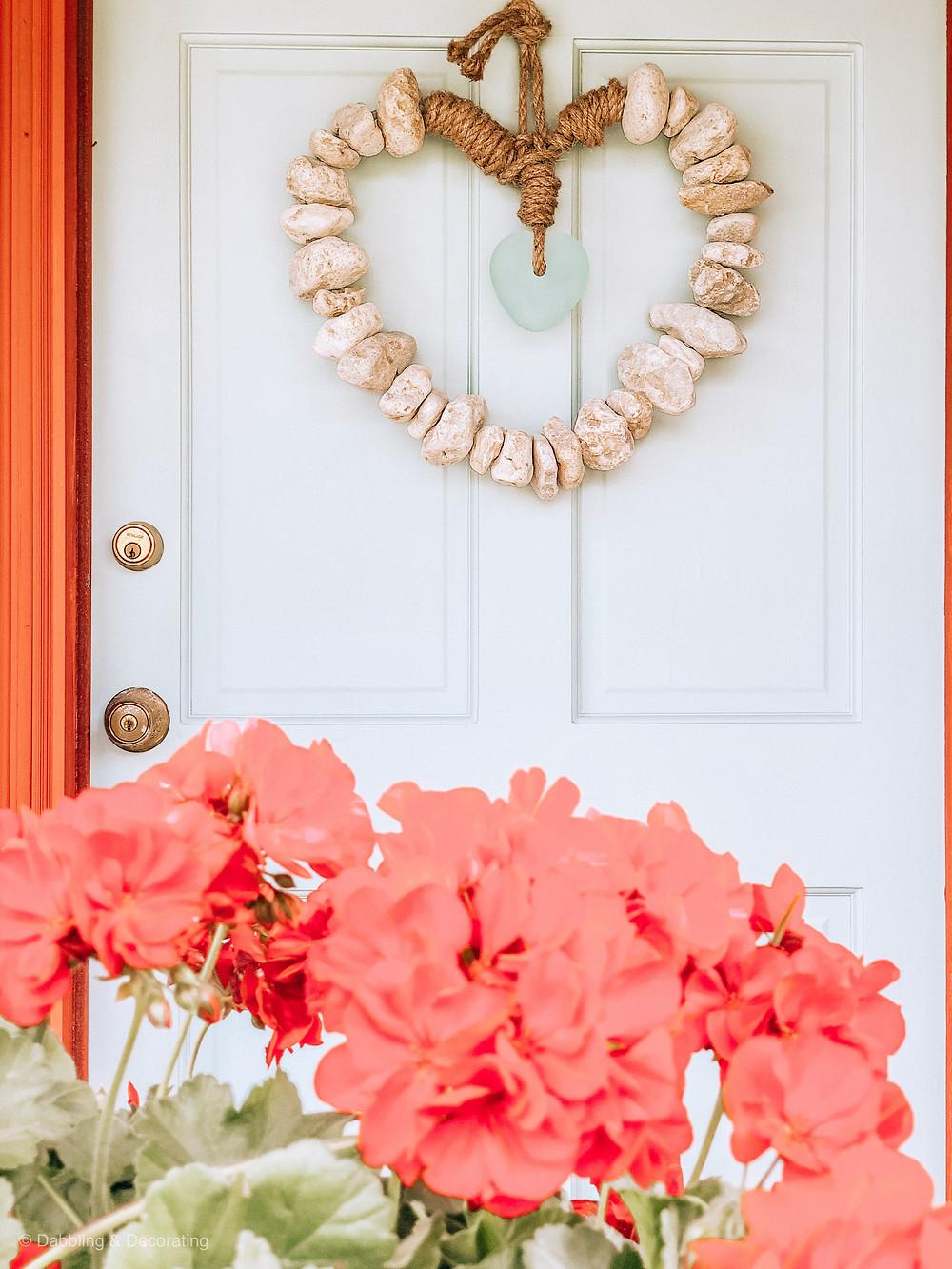 Nordic Blue Front Door & Rustic Red House