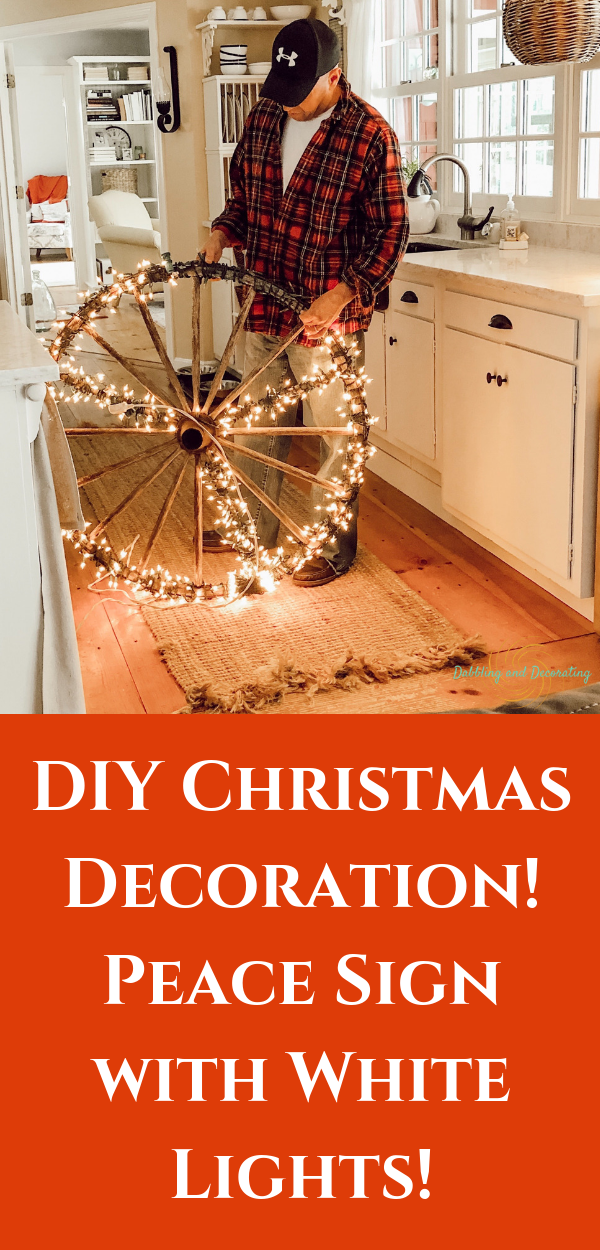 DIY Christmas Decoration! Vintage Wagon Wheel with White Lights!