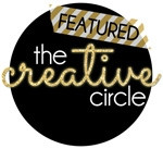 The Creative Circle Link Up Party Feature Button.