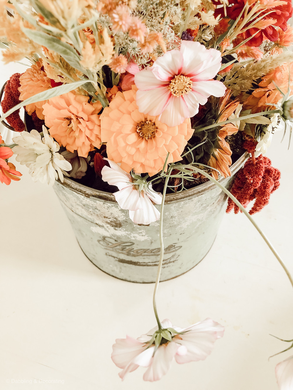 Vintage Sugar Tin Centerpiece