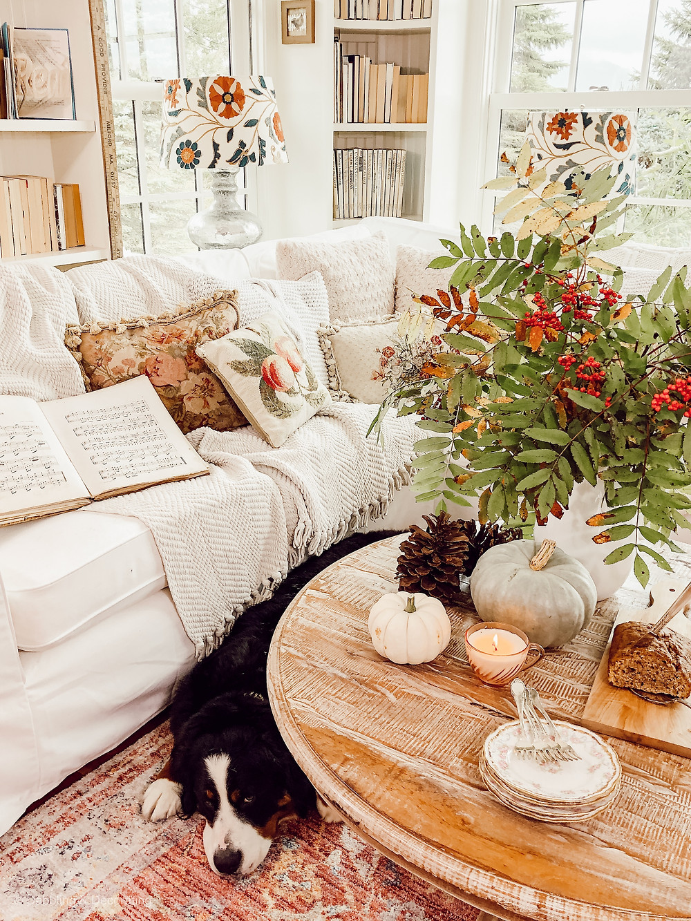 Cozy Fall Sunroom