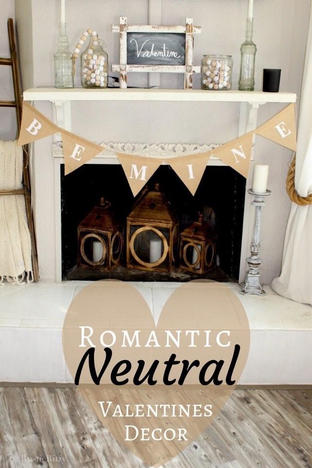 Romantic Neutral Valentines Decor