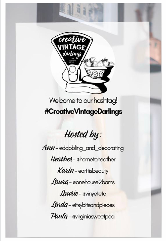 Creative Vintage Darlings Hashtag