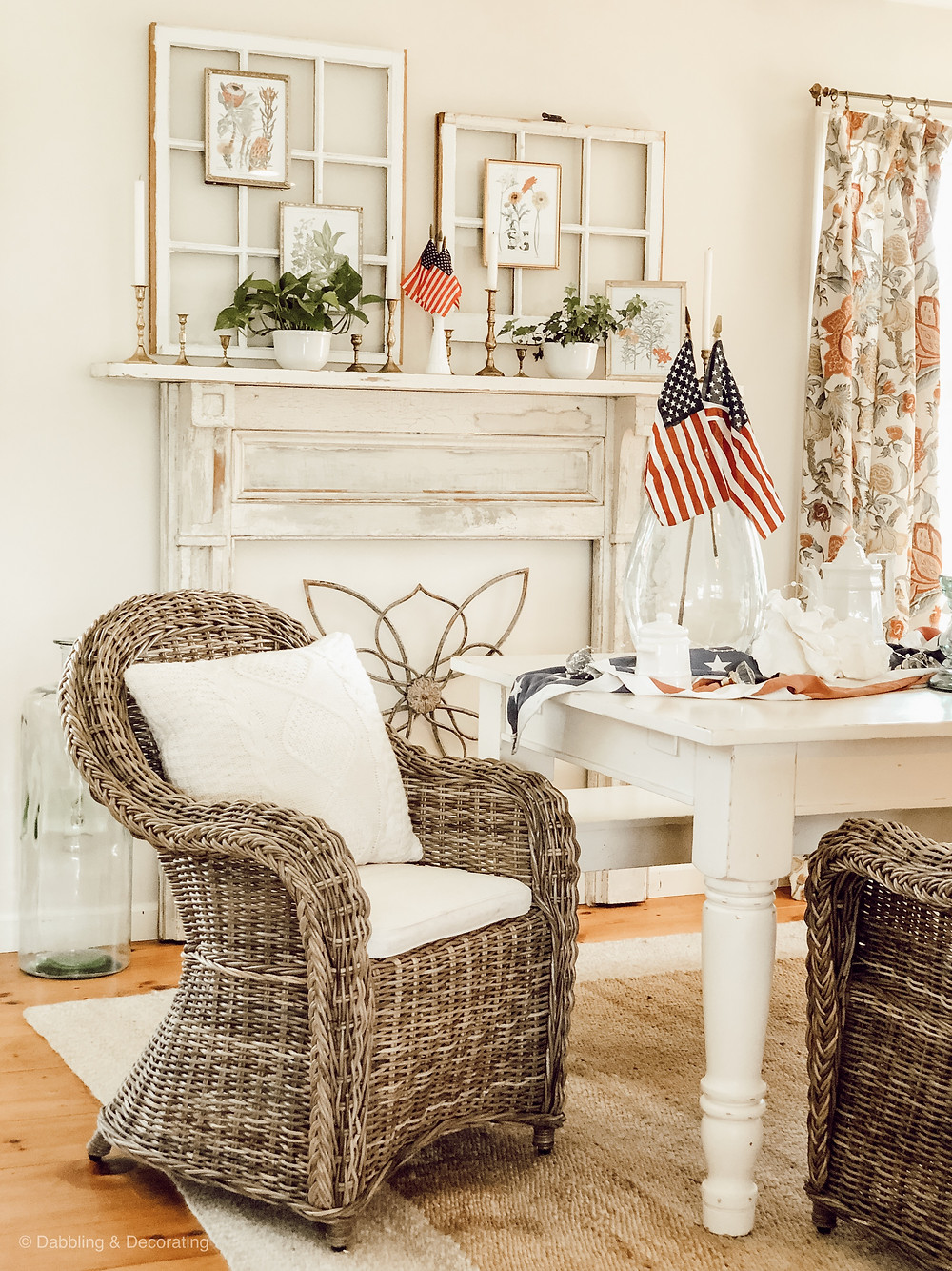 Simple Patriotic Vintage Decor