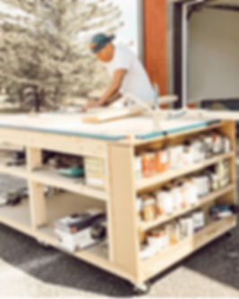 Mobile DIY Home Workbench and Workshop