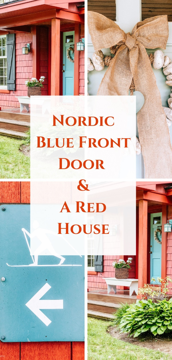 Nordic Blue Front Door & Red House