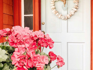 Nordic Blue Front Door & A Rustic Red House