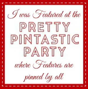 Pretty Pintastic Party Link Up Party Feature Button