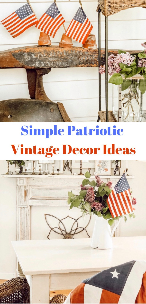 Simple Patriotic Vintage Decor Ideas